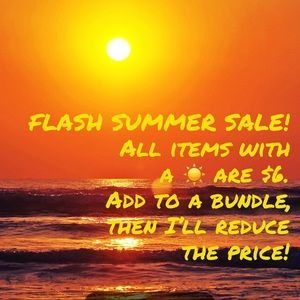 ☀️☀️FLASH SUMMER SALE